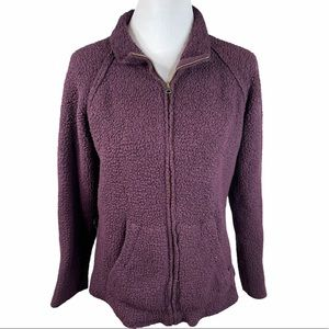 Natural Reflections Fleece Jacket, Plum, X-Large